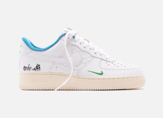 Kith Nike Air Force 1 Low White Blue Lagoon Aloe Verde White DC9555-100 Release Date Info