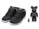 Medicom Nike SB Dunk Low Bearbrick Black