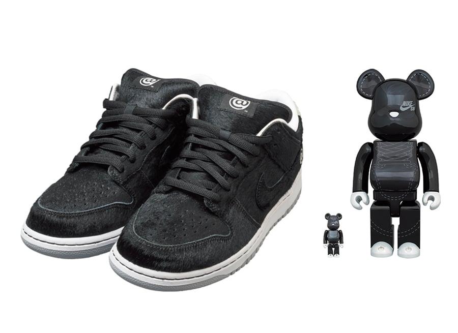 Medicom Nike SB Dunk Low Bearbrick Black