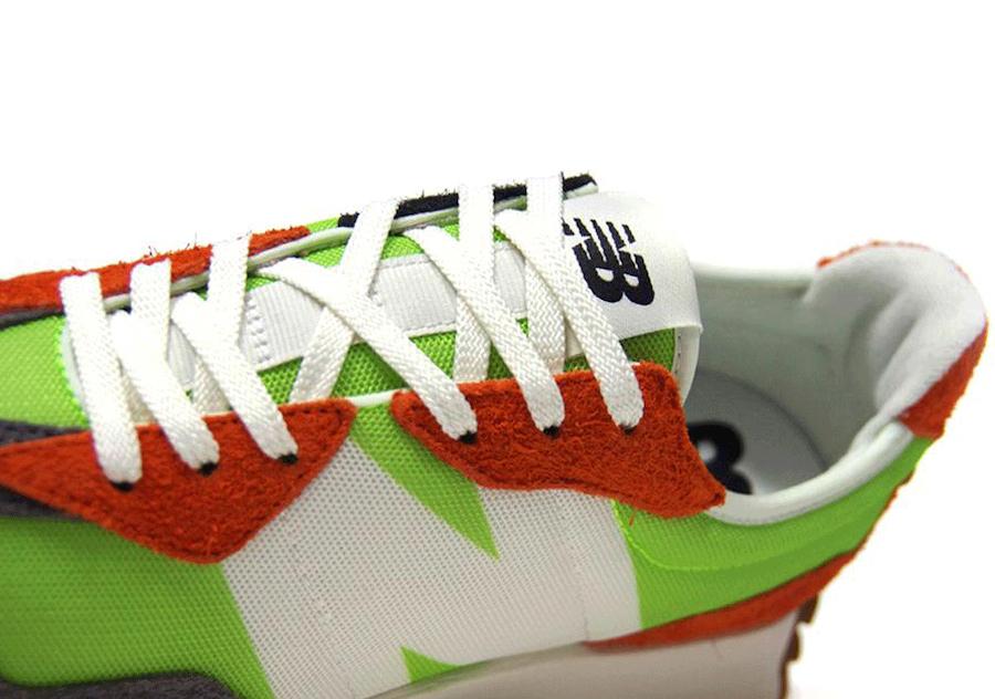 New Balance 327 Green Orange Gum Release Date Info