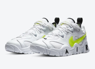 Nike Air Barrage Low White Neon Yellow CN0060-100 Release Date Info