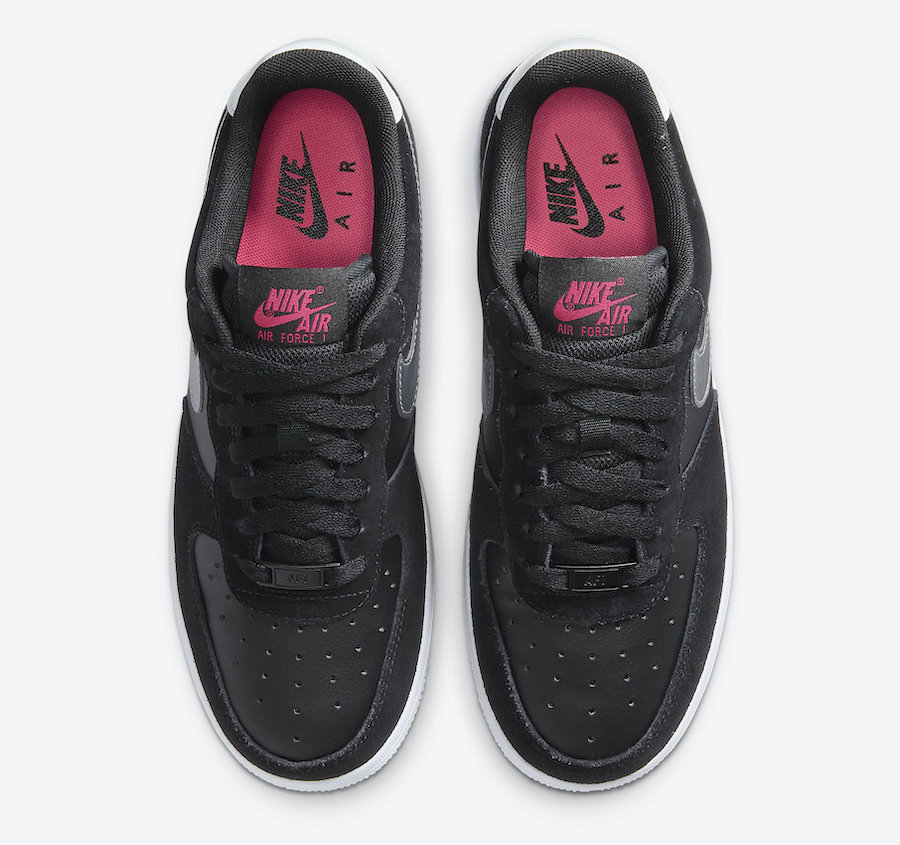 Nike Air Force 1 Black Pink Silver DA4282-001 Release Date Info