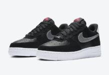 Nike Air Force 1 Black Pink Silver DA4282-001 Release Date Info