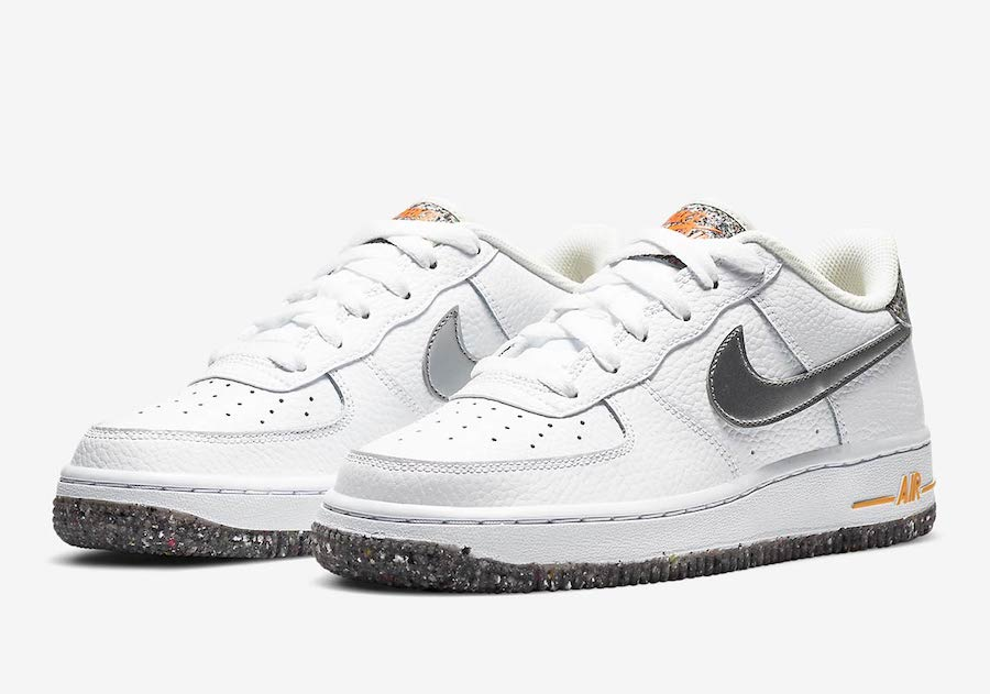 Nike Air Force 1 Crater White Silver Orange DB1558-100 Release Date Info