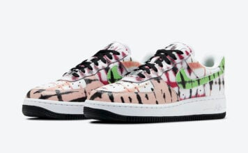 Nike Air Force 1 Low Black Tie-Dye CW1267-101 Release Date Info