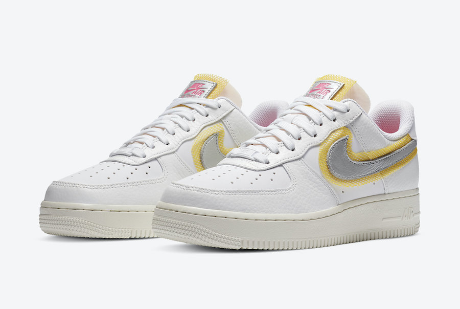 Nike Air Force 1 Low White Silver Gold CZ8104-100 Release Date Info