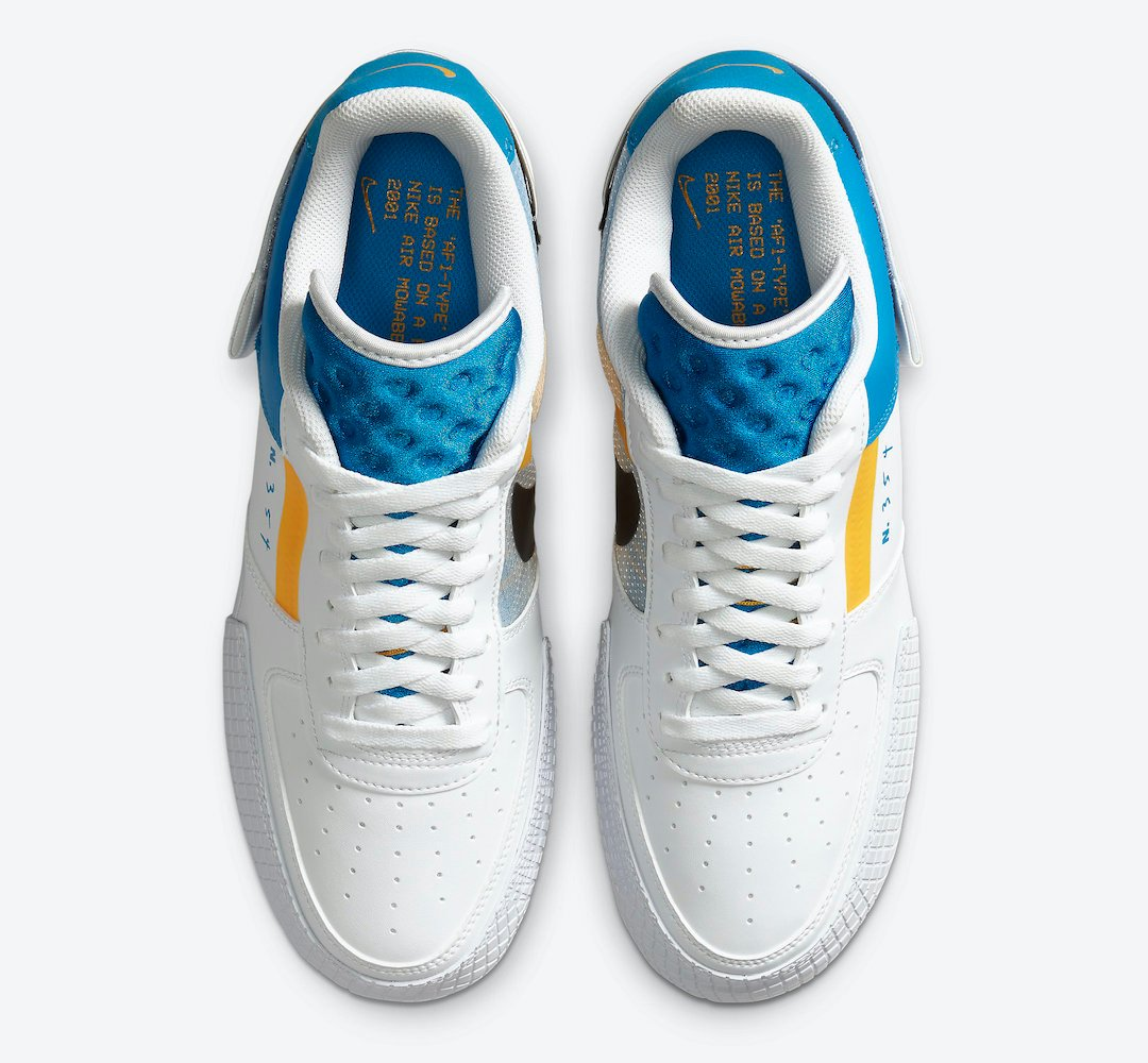 Nike Air Force 1 Type Photo Blue University Gold CK6923-101 Release Date Info