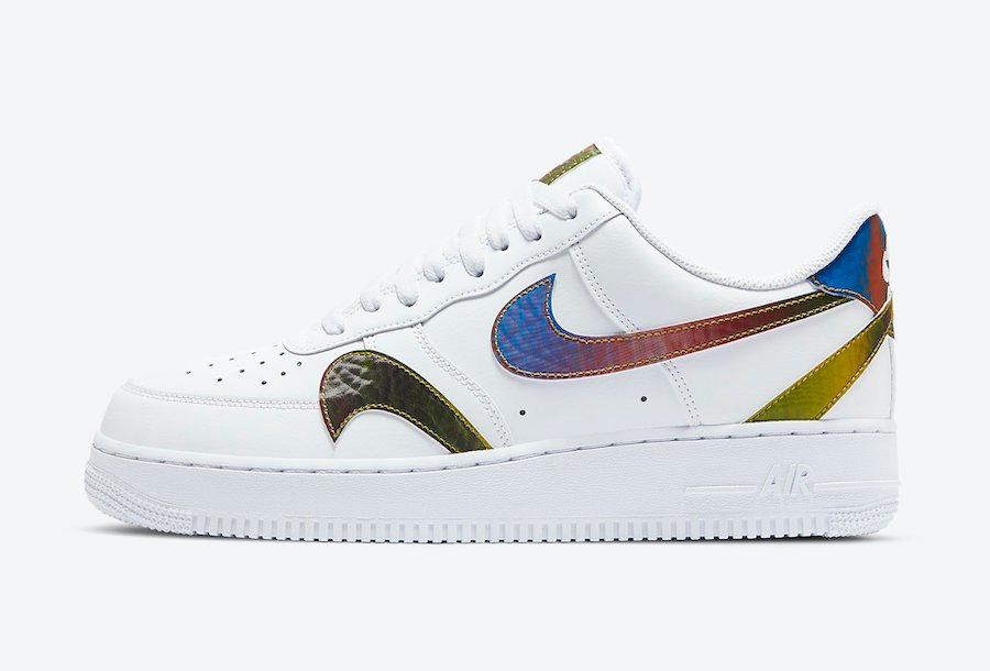 Nike Air Force 1 White Misplaced Swoosh CK7214-101 Release Date Info