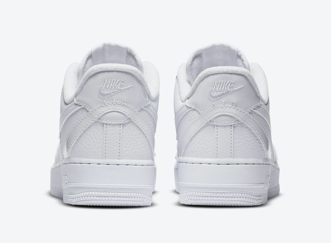 Nike Air Force 1 White Misplaced Swooshes CK7214-100 Release Date Info