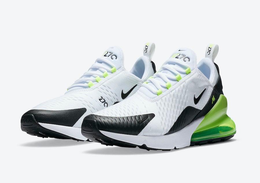 Nike Air Max 270 White Black Volt DC0957-100 Release Date Info