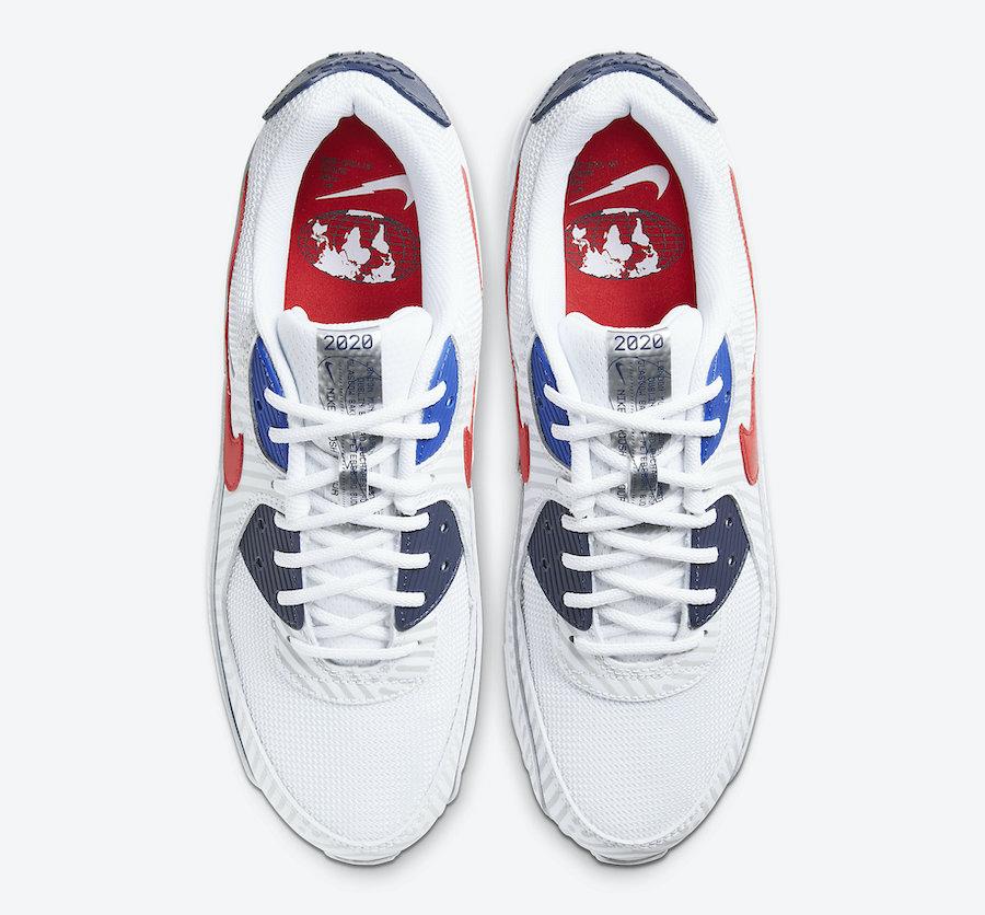 Nike Air Max 90 Euro Tour CW7574-100 Release Date Info