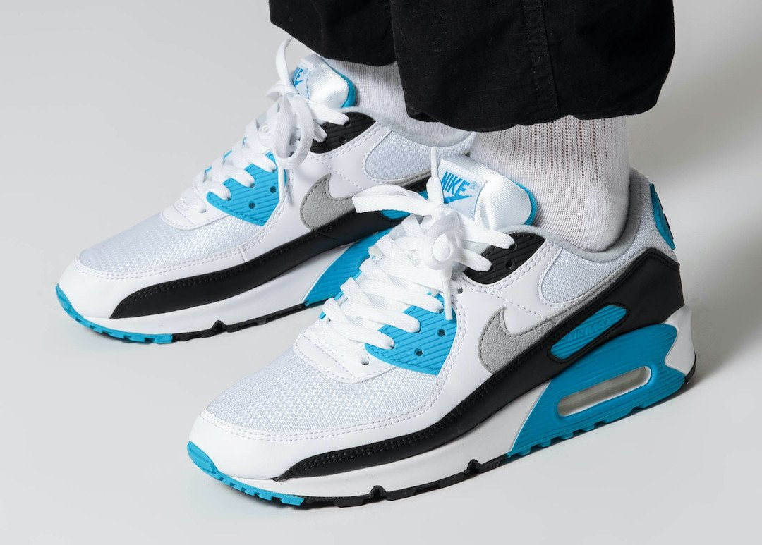 Nike Air Max 90 Laser Blue CJ6779-100 On Feet