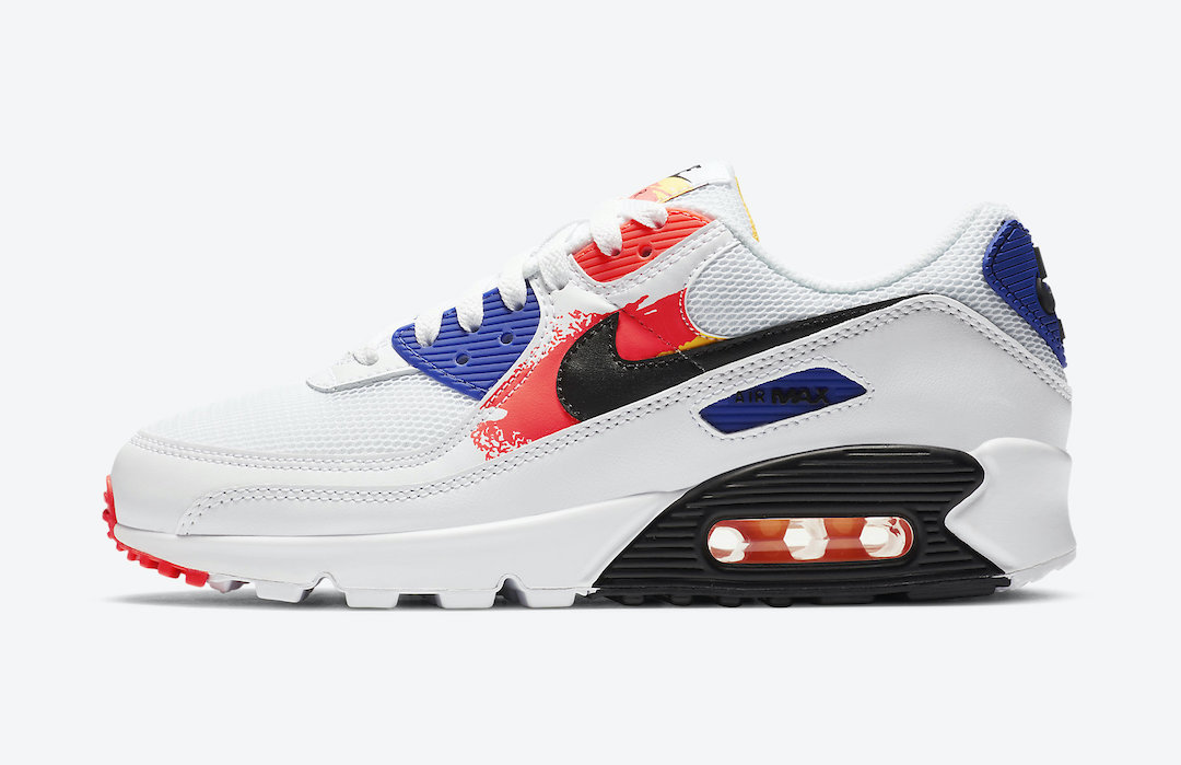 Nike Air Max 90 Paint Streaks CZ7937-100 Release Date Info