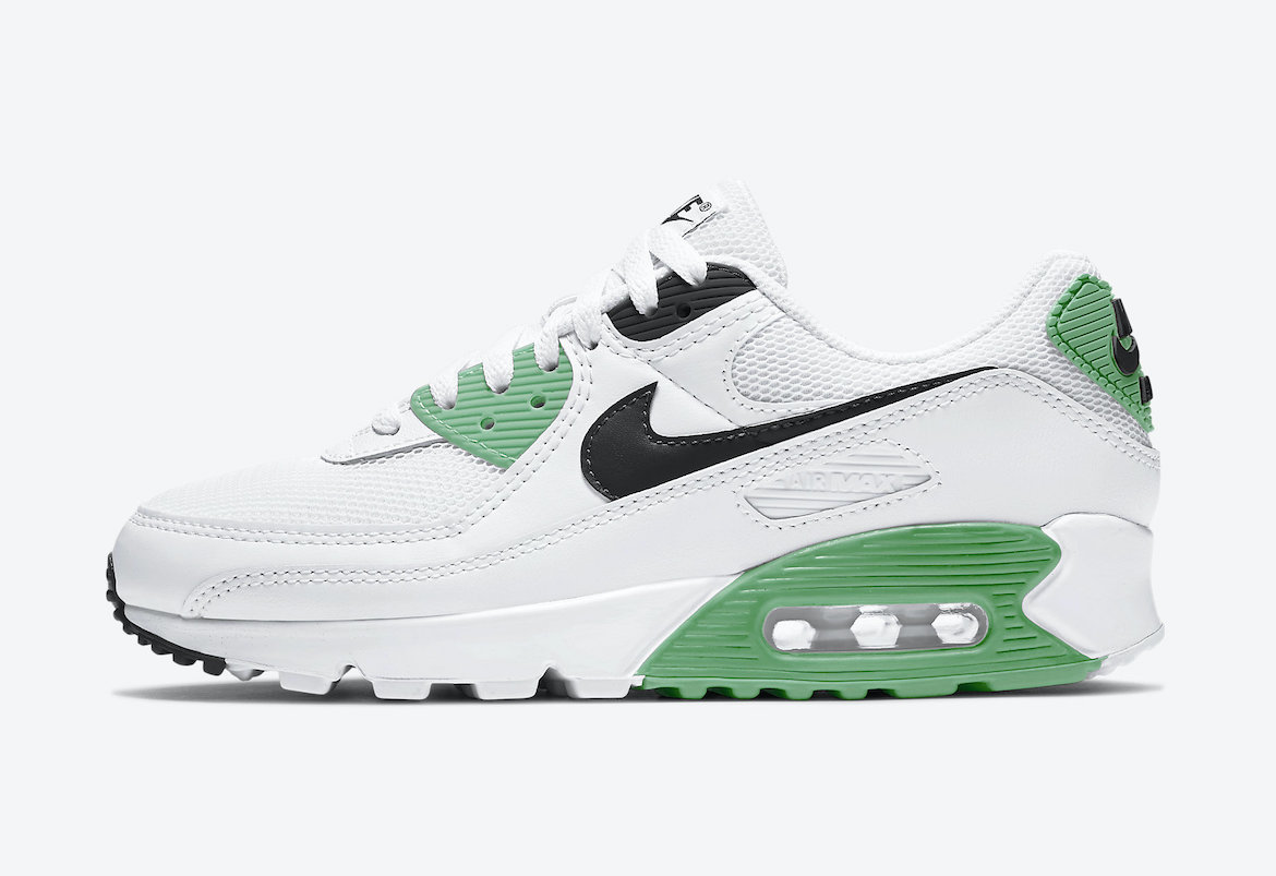 Nike Air Max 90 White Black Green CT1039-101 Release Date Info