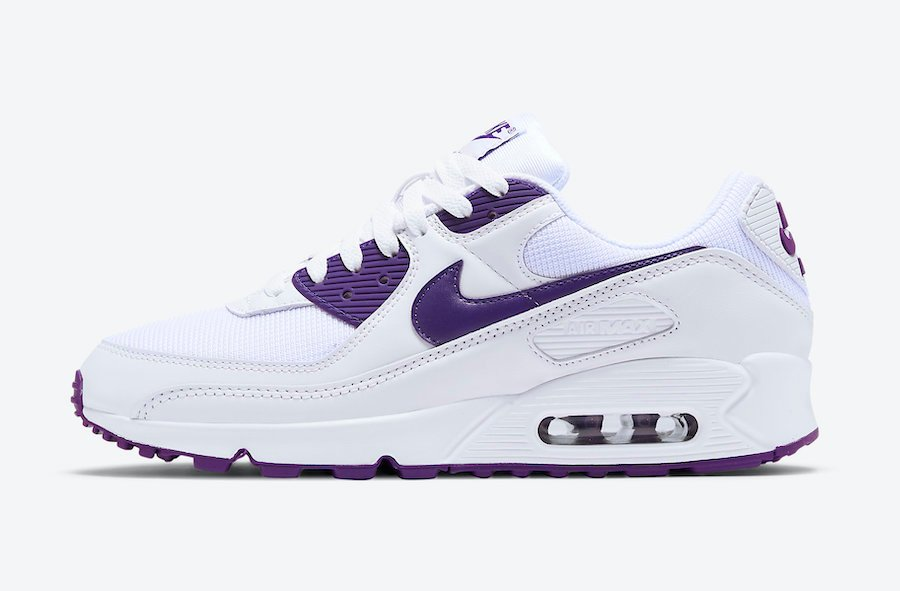 Nike Air Max 90 White Court Purple CT1028-100 Release Date Info