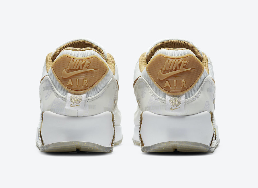 Nike Air Max 90 Worldwide White Gold DA1342-170 Release Date Info