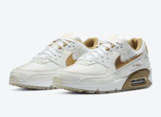 Nike Air Max 90 Worldwide White Gold DA1342-170 Release Date Info