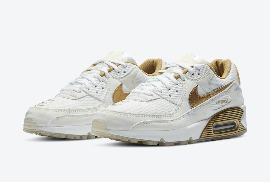 Nike Air Max 90 Worldwide White Gold DA1342-170 Release Date Info ...