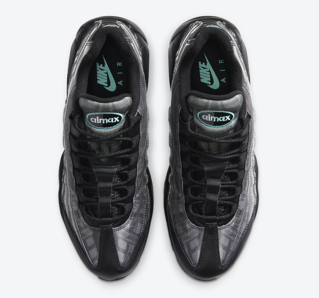 Nike Air Max 95 Black Aurora Green Smoke Grey DA7735-001 Release Date Info