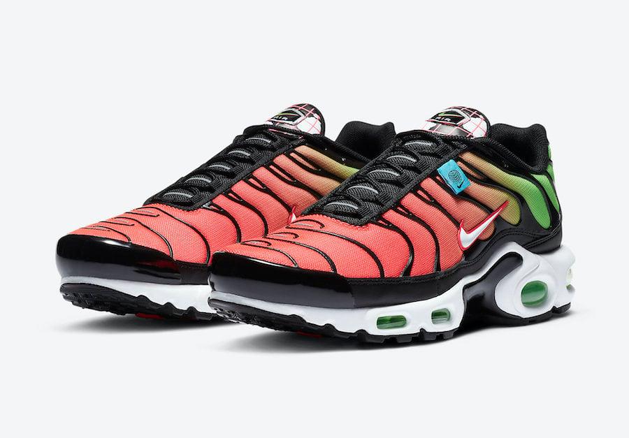 Nike Air Max Plus Worldwide Green Strike Crimson CK7291-001 Release Date Info