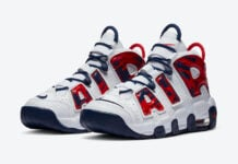 Nike Air More Uptempo GS White Red Navy CZ7885-100 Release Date Info