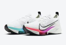 Nike Air Zoom Tempo NEXT% White Violet Crimson Aura CI9923-100 Release Date Info