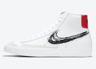 Nike Blazer Mid 77 Vintage Brushstroke Swoosh DC4838-100 Release Date Info