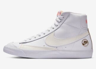 Nike Blazer Mid 77 Vintage White Gold Pink DC1421-100 Release Date Info