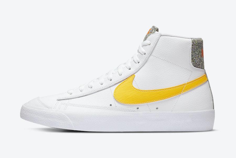 Nike Blazer Mid 77 Vintage White Yellow DA4677-100 Release Date Info