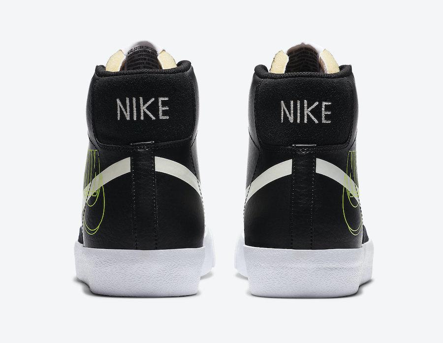 Nike Blazer Mid Black White Volt DA4651-001 Release Date Info