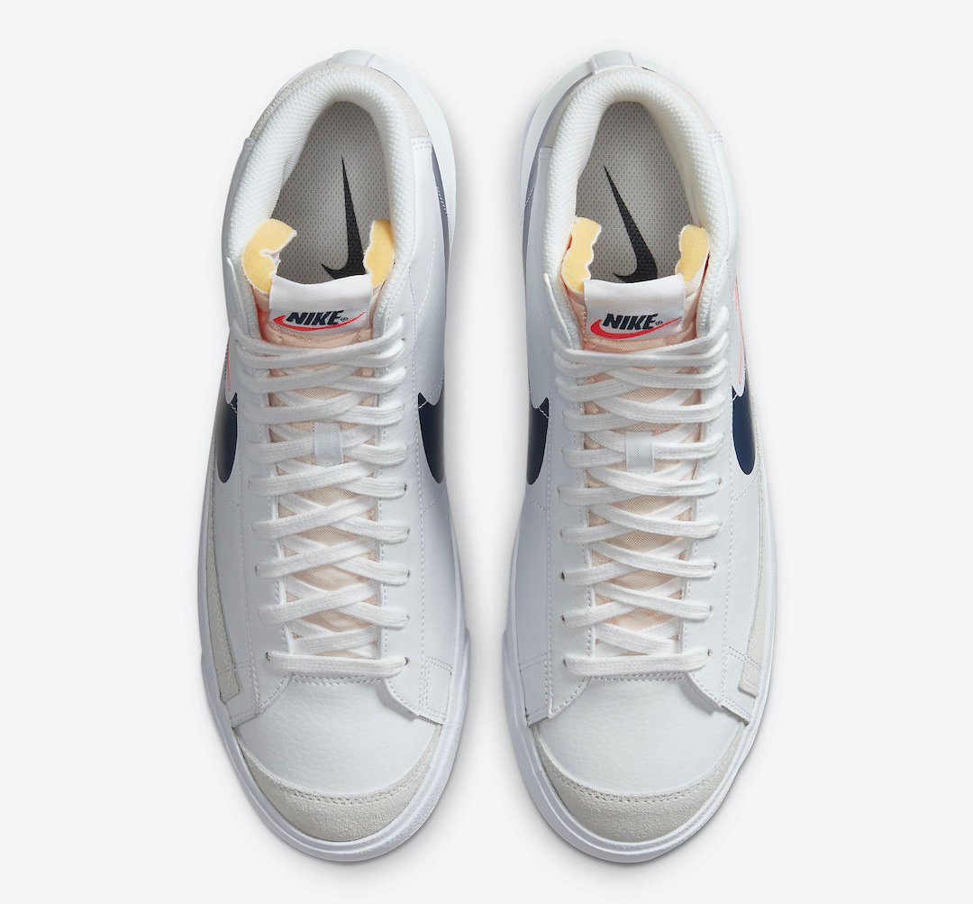 Nike Blazer Mid Reverse Logo White DA4651-100 Release Date Info