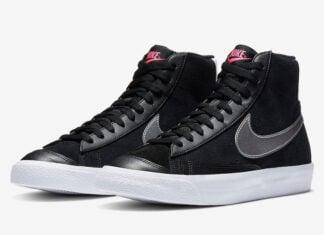 Nike Blazer Mid Vintage 77 Black Silver Pink DA4283-001 Release Date Info