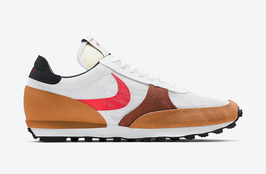 Nike Daybreak Type White Brown Black Red CJ1156-102 Release Date Info