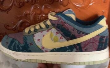 Nike Dunk Low Multi-Color Midnight Turquoise Cardinal Red Lemon Wash CZ9747-900