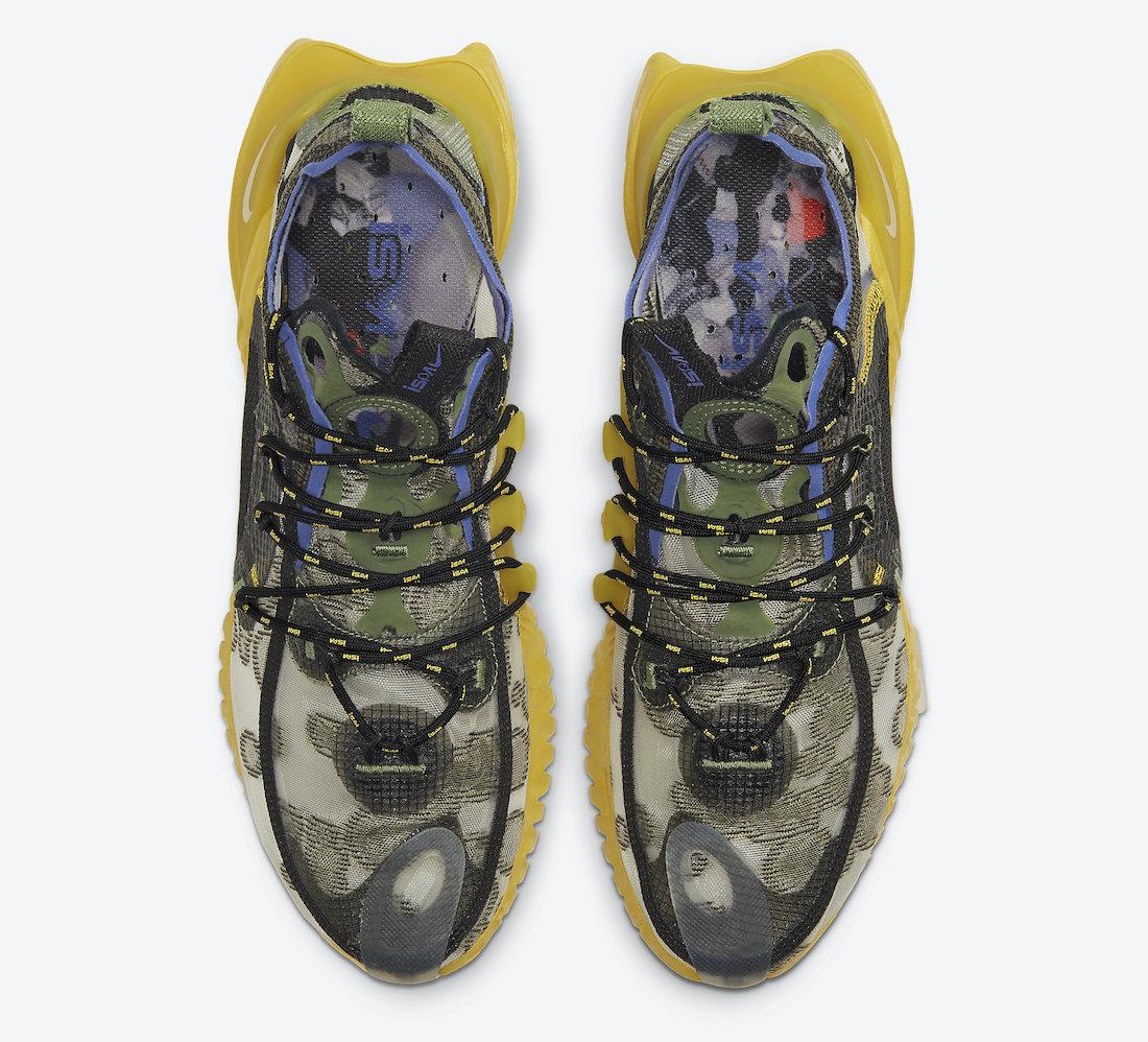 Nike Flow 2020 ISPA Medium Olive Persian Violet CI1474-200 Release Date Info