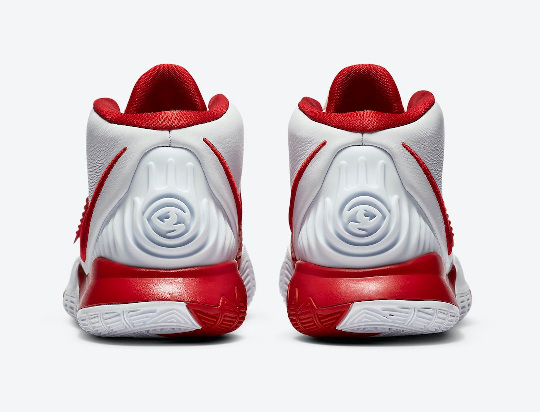 Nike Kyrie 6 White University Red CZ4938-100 Release Date Info