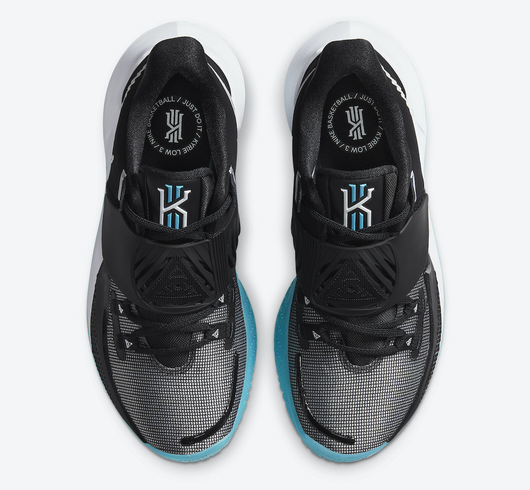 Nike Kyrie Low 3 Black White Blue CJ1286-001 Release Date Info