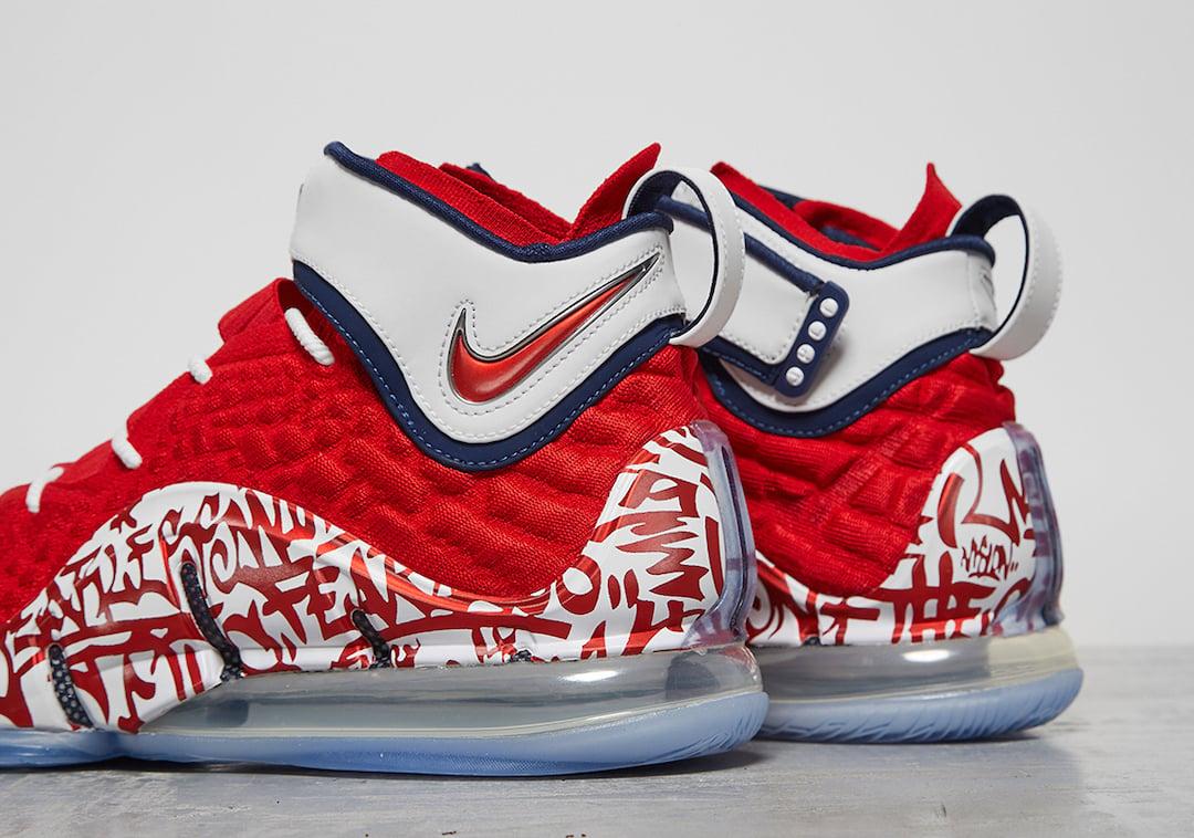 Nike LeBron 17 Graffiti Remix Red Release Date Info