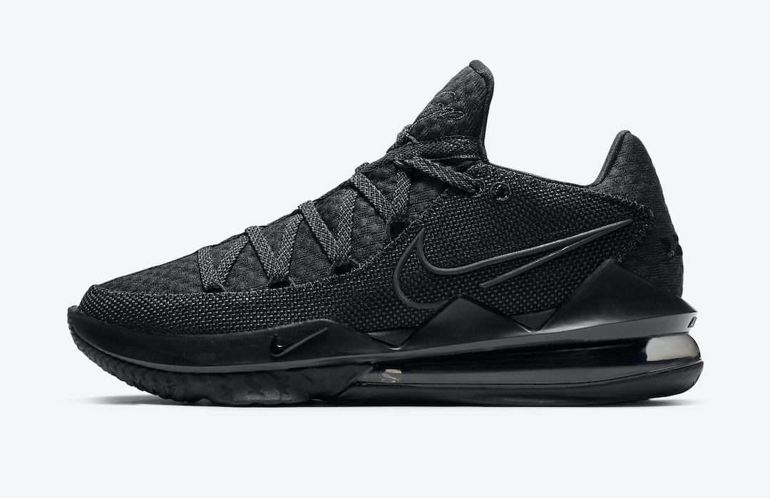 Nike LeBron 17 Low Triple Black CD5007-003 Release Date Info