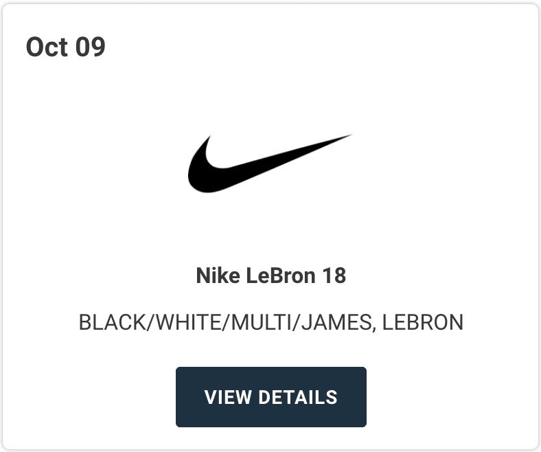 Nike LeBron 18 Multi-Color Release Date