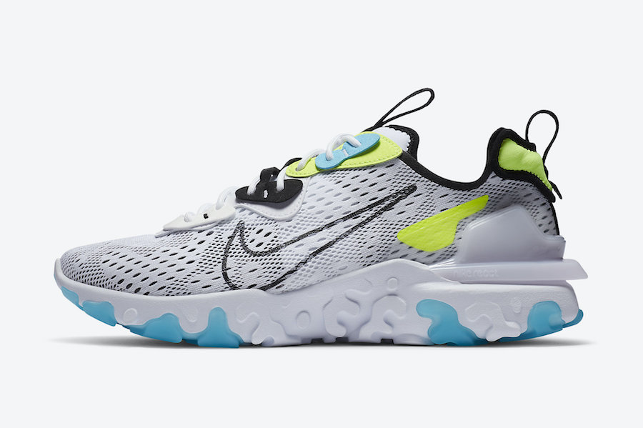 Nike React Vision Worldwide White Volt Blue Fury CT2927-100 Release Date Info