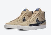Nike SB Blazer Mid Sesame Denim CT0715-200 Release Date Info