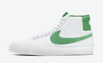 Nike SB Blazer Mid White Green 864349-106 Release Date Info