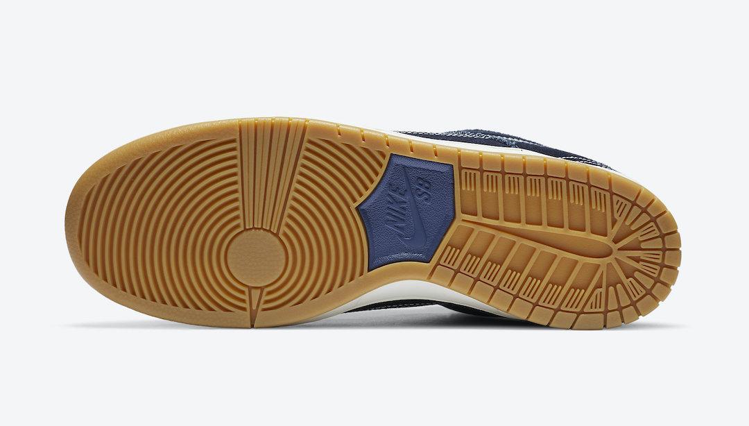 Nike SB Dunk Low Sashiko Denim Gum CV0316-400 Release Info