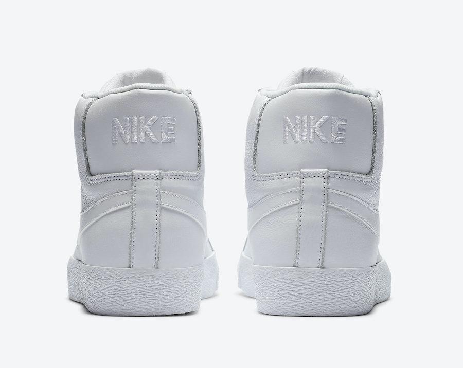 Nike SB Zoom Blazer Mid Triple White 864349-105 Release Date Info