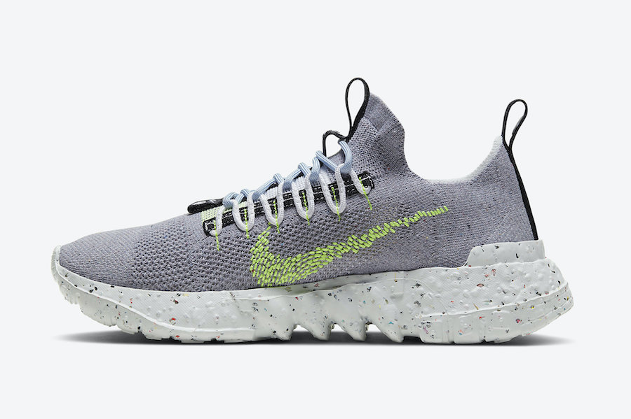 Nike Space Hippie 01 Grey Volt CQ3986-002 Release Date Info