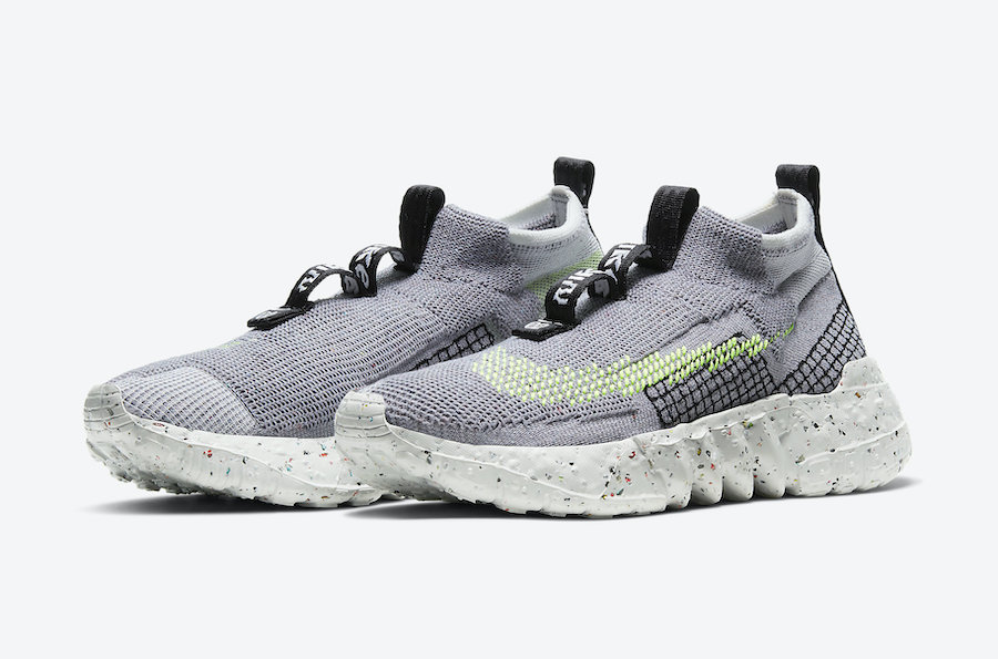 Nike Space Hippie 02 Grey Volt CQ3988-002 Release Date Info