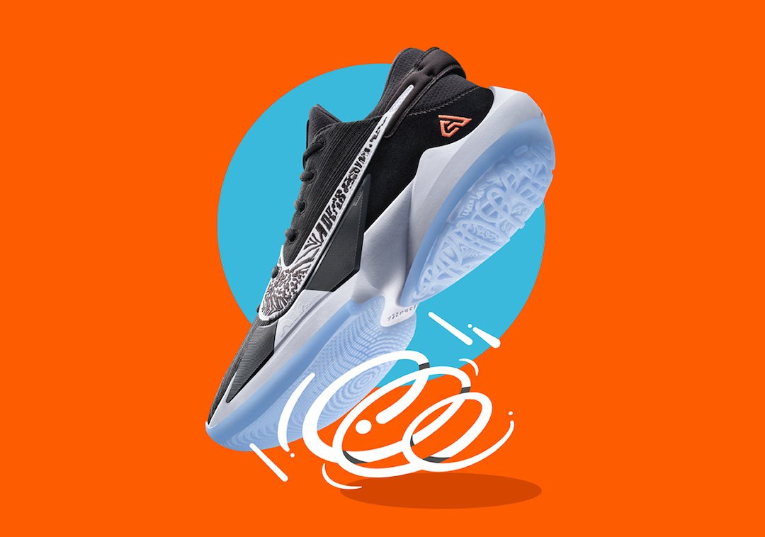 Nike Zoom Freak 2 Black White