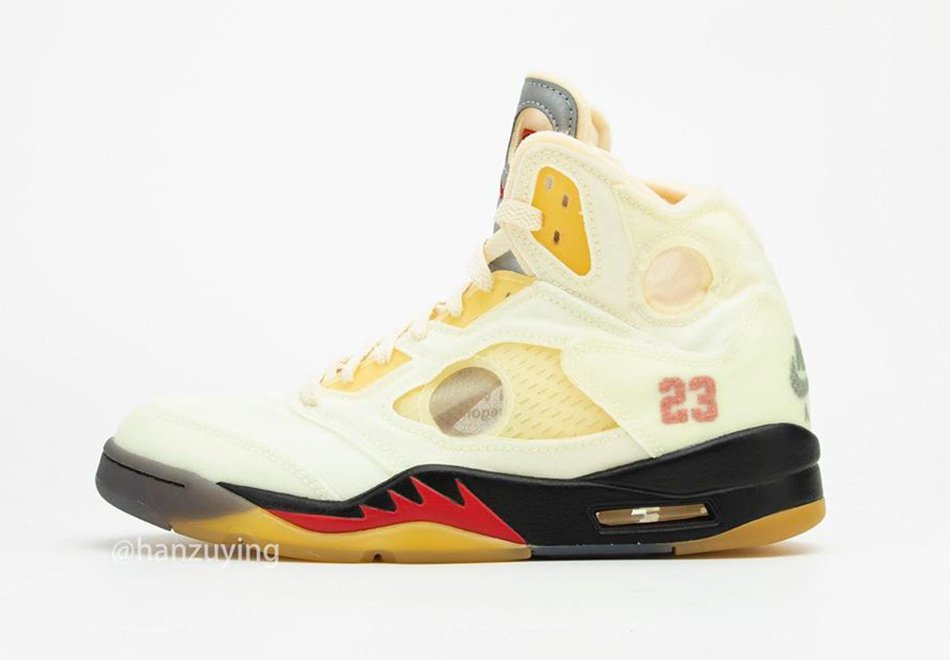 Off-White Air Jordan 5 Sail Fire Red DH8565-100 Release Date Price