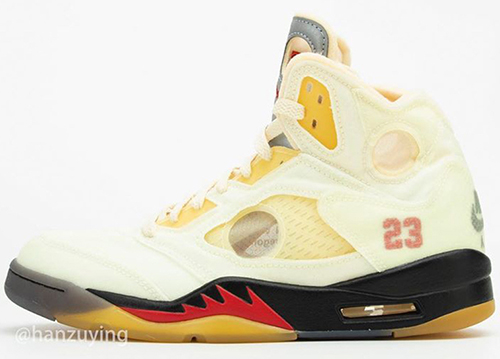 Off-White Air Jordan 5 Sail Fire Red Release Date